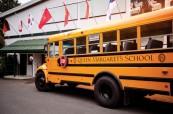Školní autobus, Queen Margaret's School, Britská Kolumbie, Kanada