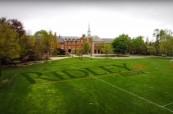 Vybavení střední soukromé školy Ridley College je moderní, St. Catharines, Ontario, Kanada