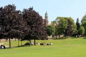 Škola se rozkládá na pozemku o rozloze 40 hektarů, Trinity College School v Port Hope, Ontario, Kanada