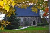 Kaple v kampusu soukromé střední školy King's-Edgehill ve Windsoru, Nové Skotsko, Kanada