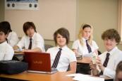 Studenti během výuky, Rosseau Lake College, Rosseau, Ontario, Kanada