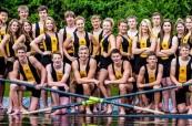 Sportovní tým veslařů školy Shawnigan Lake School, Britská Kolumbie, Kanada